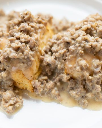 Sausage and Biscuits with Gravy