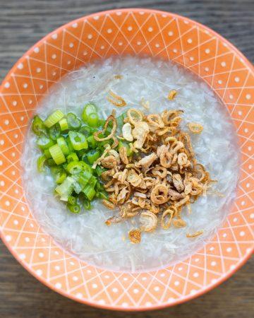 instapot chicken congee