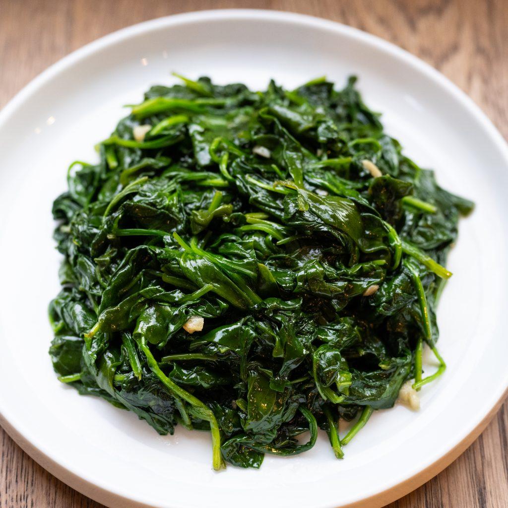 Garlic sesame spinach