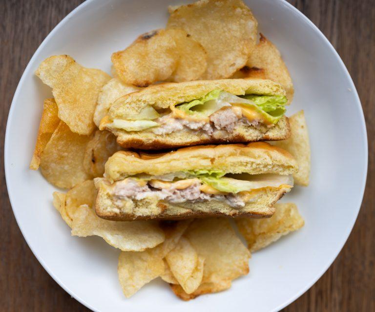 melted tuna fish sandwich