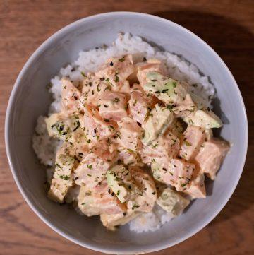 spicy salmon poke