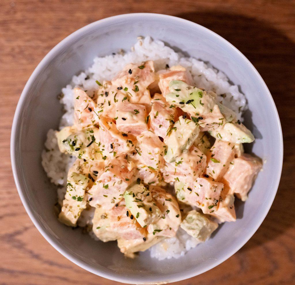 spicy salmon poke quick