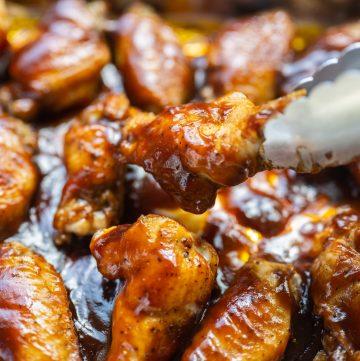 Baked Honey BBQ Wings