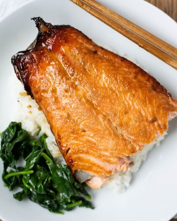 baked salmon with brown sugar and mustard glaze
