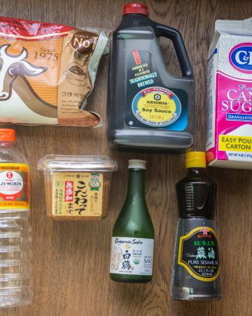 common Japanese seasonings and sauces