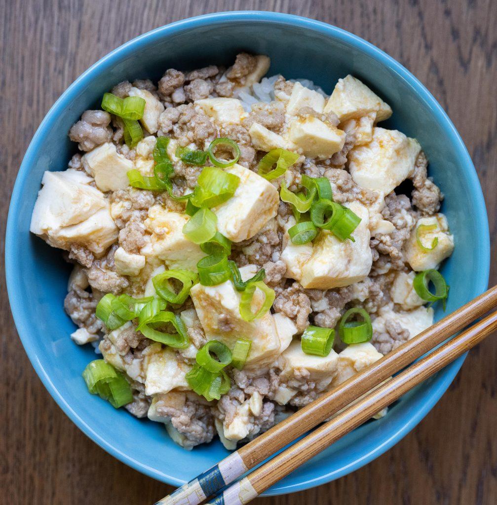 Ground pork mapo tofu