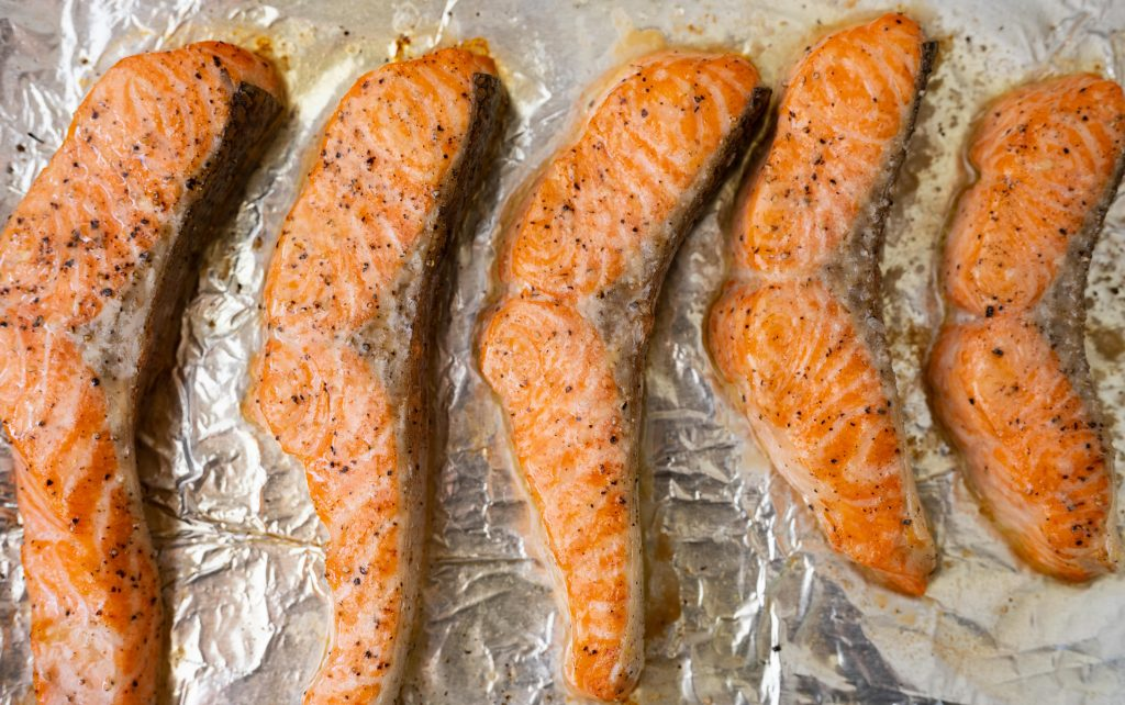 quick baked salmon fillet